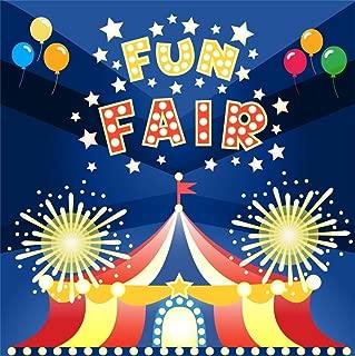 CSFOTO 6x6ft Background for Fun Fair Playground Photography Backdrop Circus Troupe Children Birthday Party Happy Birthday Bash Celebration Balloon Child Kid Photo Studio Props Vinyl Wallpaper