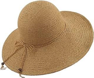 LETHMIK Summer Beach Straw Hat Womens Wide Brim Floppy Packable Sun Hat
