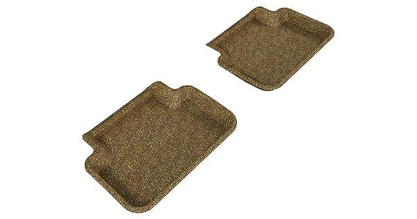 L1AD02722202 Tan 3D MAXpider Second Row Custom Fit All-Weather Floor Mat for Select Audi A4//S4//RS4 Models Classic Carpet