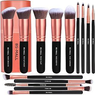 BS-MALL Makeup Brushes Premium Synthetic Foundation Powder Concealers Eye Shadows Makeup 14 Pcs Brush Set, Rose Golden, 1 ...