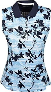 Callaway Women's Performance Sleeveless Printed Polo Shirt