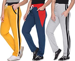 69GAL Women's Regular Fit Trackpants (Pack of 3)