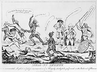 ロイヤリスト漫画1783 NShelb-Ns 犠牲 現代英語カートゥーン パリ平和の弁護の結果を推測 アメリカのイギリス首相 アール・シェルバーン シーム Pl