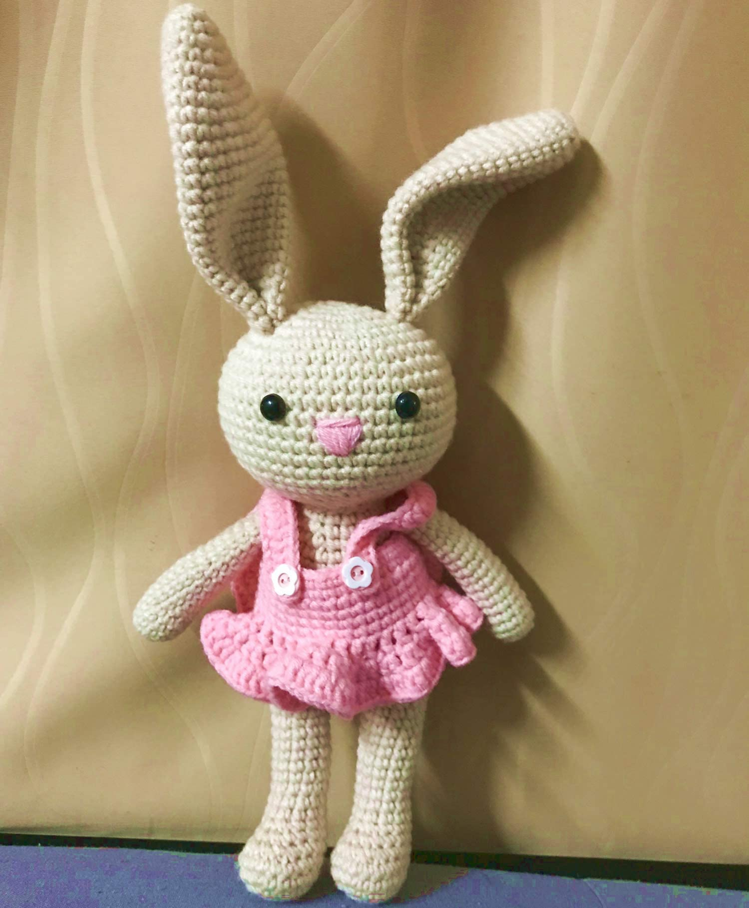 Lilly the Holland Lop Bunny Handmade Crochet Animal Stuffed Animal Crochet Bunny Plush Rabbit Bunny Toy Amigurumi Crochet Bunny