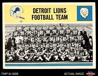1964 Philadelphia # 69 Lions Team Detroit Lions (Football Card) Dean's Cards 4 - VG/EX Lions