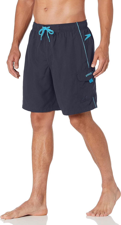 Speedo Men's Swim Trunk Knee Length Marina Volley : Clothing, Shoes & Jewelry