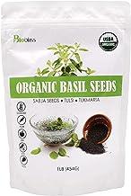 Biobliss Organic Basil Seeds 16 oz - USDA Organic - Edible Thai Basil Seeds - Basil Seed Drink in 15 Minutes - Premium Qua...