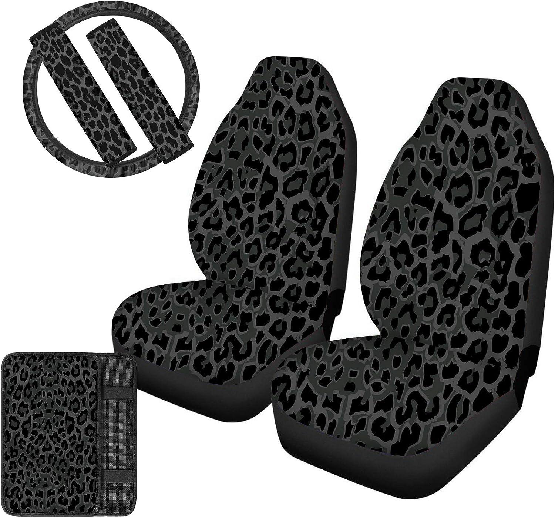Superlatite Upetstory 35% OFF Grey Black Leopard Car Covers Front Seat f