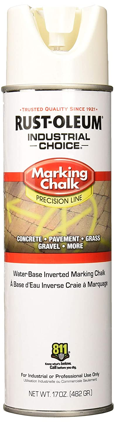 Rust-Oleum 205237 MC1800 System Precision Line Inverted Marking Chalk, 17-Ounce, White
