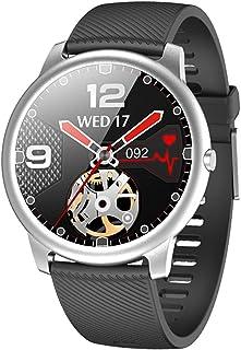 LTLJX Reloj Inteligente Pulsómetro Pulsera de Actividad con Monitor de Sueño Podómetro Impermeable IP68 Reloj Deportivo Mujer Hombre Smartwatch Compatible Android y iOS,Plata