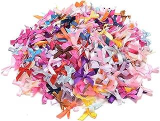 Kocome 100pcs Mini Satin Ribbon Flowers Bows Gift DIY Craft Wedding Decoration Ornament