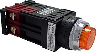 マルヤス電業φ25照光押ボタンSW突形 トランス付AC200~220V LED照光(青色・ハイブライト)1b接点 A25 FT200 01HLH