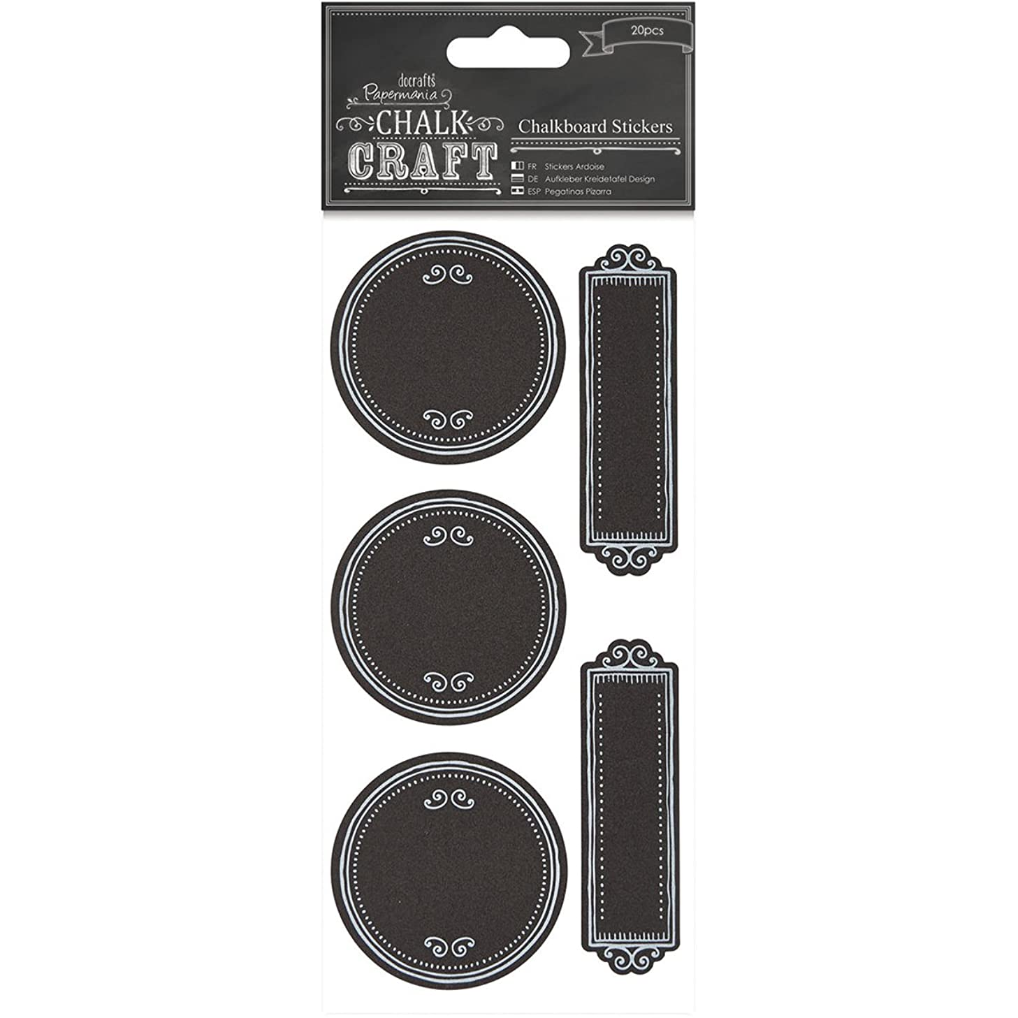 DOCrafts PM355409 Chalk Craft Chalkboard Stickers Dotty Frames