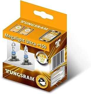 لمبة هالوجين للمصباح الامامي ميجالايت الترا +150 من تونجسرام - 55 وات، 12 فولت، H7، قطعتين