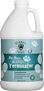 BUBBAS Super Strength Commercial Enzyme Cleaner - Pet Odor Eliminator   Enzymatic Stain Remover   Remove Dog Cat Urine Smell from Carpet, Rug or Hardwood Floor and Other Surfaces (64oz)