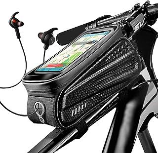 Obbug Bike Phone Front Frame Bag Bicycle Bag Waterproof Bike Phone Mount Top Tube Bag Bike Phone Case Holder Accessories C...