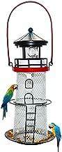 Solar Lighthouse, revolving Lighthouse, Metal Bird Feeder,Garden Decoration,
