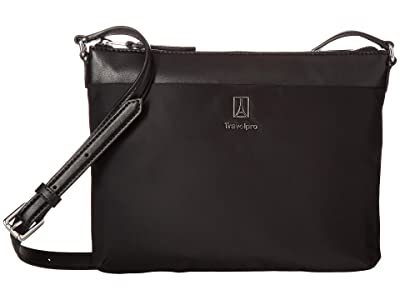 Travelpro Platinum Elite Crossbody (Shadow Black) Cross Body Handbags