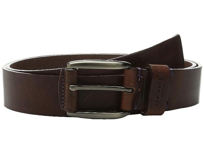 Ted Baker Jeebelt Textured Leather Jean Belt (Tan Jean) Men