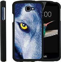 TurtleArmor | Compatible with LG K4 Case (2016) | LG Optimus Zone 3 | LG Rebel [Slim Duo] Slim Compact 2 Piece Hard Snap On Case Grip Matte on Black Animal - Wolf Eye
