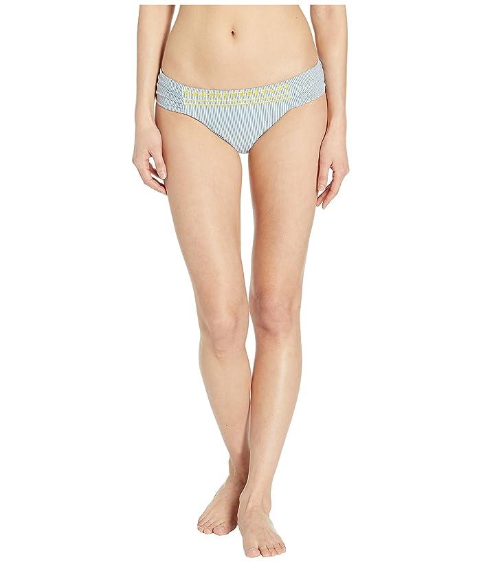 Lucky Brand Santa Margarita Side Shirred Hipster Bottoms (Blue Lagoon) Women
