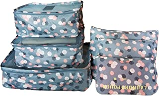6 Set Travel Storage Bags Multi-functional Clothing Sorting Packages,Travel Packing Pouches, Luggage Organizer Pouch