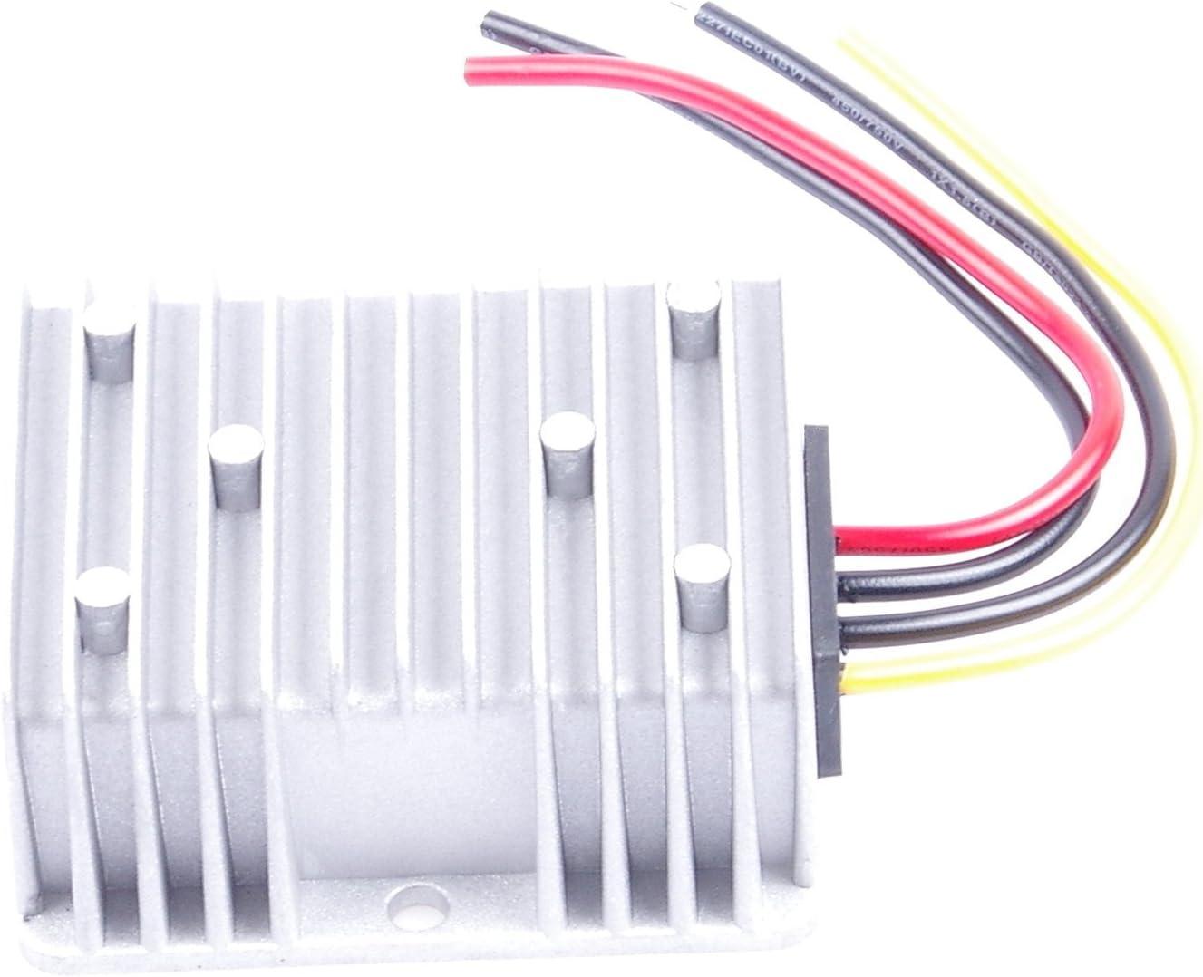 To 12V DC-DC Waterproof Boost Converter Automatic Step Down Voltage Regulator Module Car Power Supply Voltage Transformer With 4 Wires , OUT 12V 10A 20-75V 20-75V IN DC 60V KNACRO 24V 36V 48V 60V