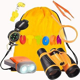 UTTORA Kit de Binoculares para Niños, Kit de Exploración