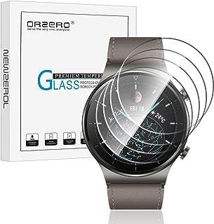NEWZEROL 4 Pièces Compatible pour Huawei Watch GT 2 Pro Protecteur D'écran en Verre Trempé [Ajustement Parfait], Haute Rés...