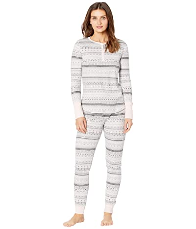Splendid Cozy Thermal PJ Set (Fireside Fairisle/Grey) Women