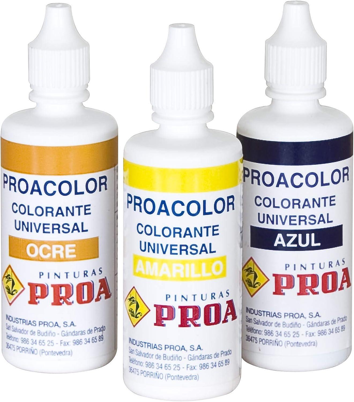 COLORANTE UNIVERSAL PROACOLOR.Tinte para pinturas plásticas, esmaltes al agua y esmaltes sinteticos al disolvente.