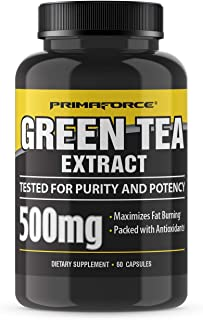 Primaforce Lean Green Green Tea Extract Vegetarian Capsules, 500 mg, 60 Count
