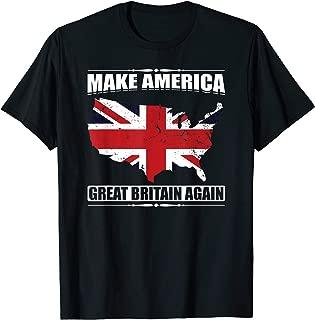 Make America Great Britain Again USA Map British Flag Gift T-Shirt