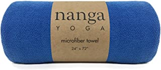 Hot Yoga Towel – Mat Sized, Non Slip, and Absorbent for All Yoga and Exercise (Blue)