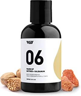 06 Moisturizing Body Oil, Organic Body Oil with Vitamin E, Hydrating Oil, 100% Natural Oil Moisturizer for Body (Warm Up - Nutmeg and Galbanum) - Way of Will