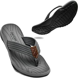 ChayChax Tongs Hommes Souple Sandales de Sports Antidérapante Flip Flops Décontractée Chaussures de Plage et Piscine