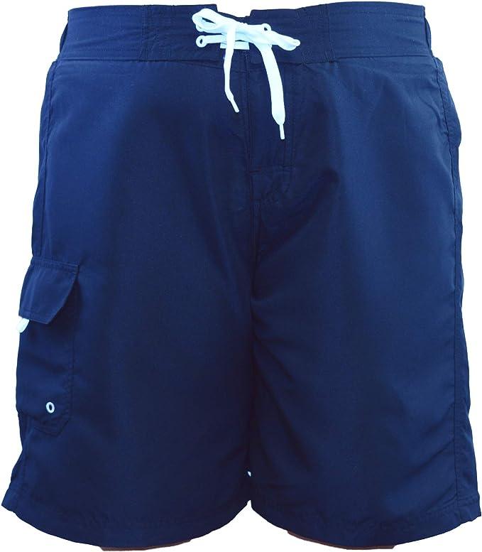 Adoretex Womens Plus Size Solid Swim Board Shorts