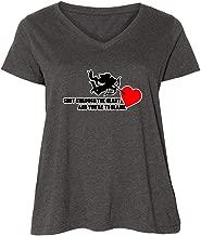 inktastic Shot Through The Heart Ladies Curvy V-Neck Tee