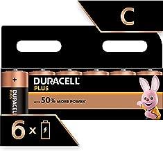 Duracell Plus C Alkaline Batteries, 1.5 V LR14 MX1400, Pack of 6