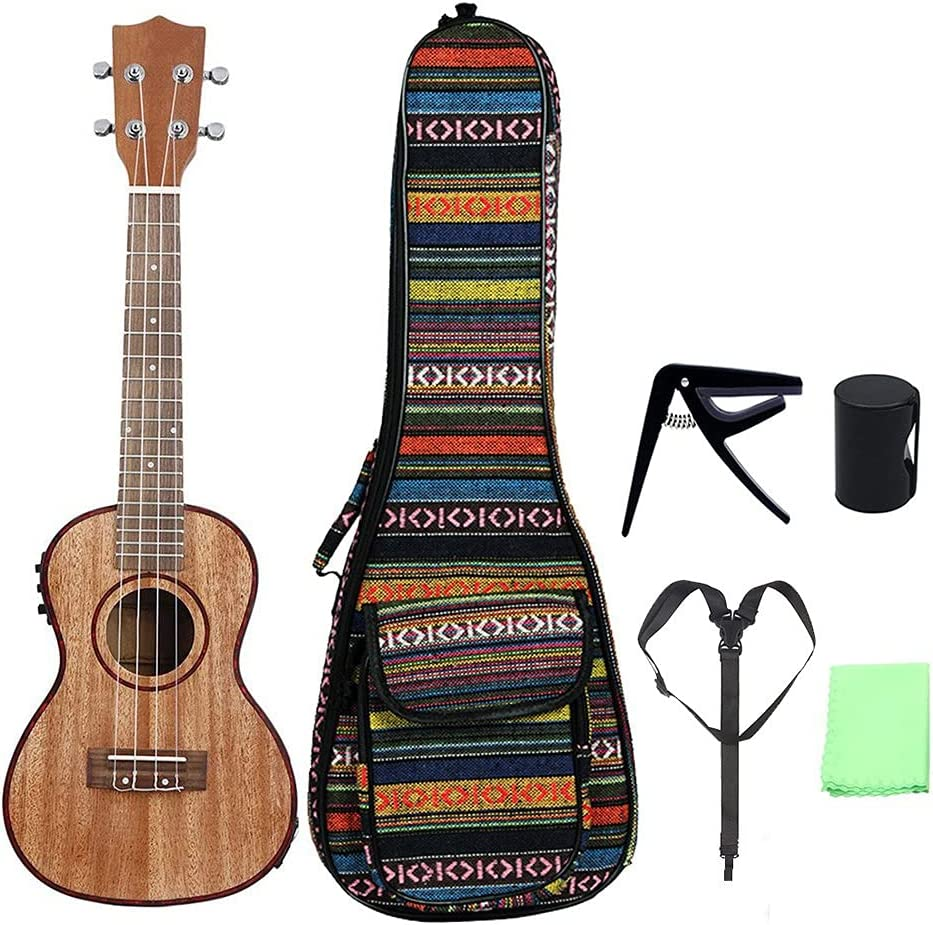 Ultra-Cheap Ranking TOP6 Deals 24 Inch Ukulele Kit Sapele Stringed Strings Wood Ukuleles Guitar
