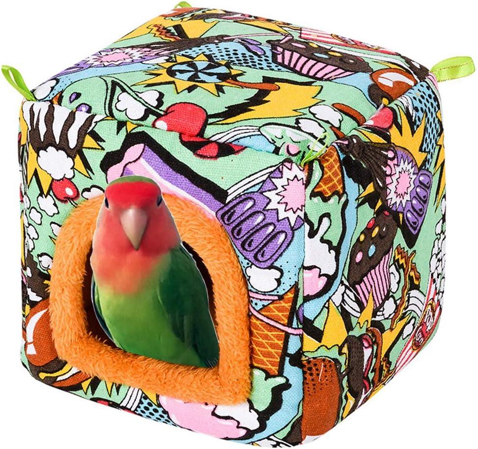 YJJKJ Pet Bird Hut Branded goods Columbus Mall Winter Parrot Nest Snuggle Pa Warm