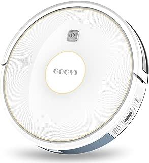 GOOVI ロボット掃除機 薄型 1600Pa ペットの毛とフロアと短毛绒毯に適用する (D380 ホワイト)