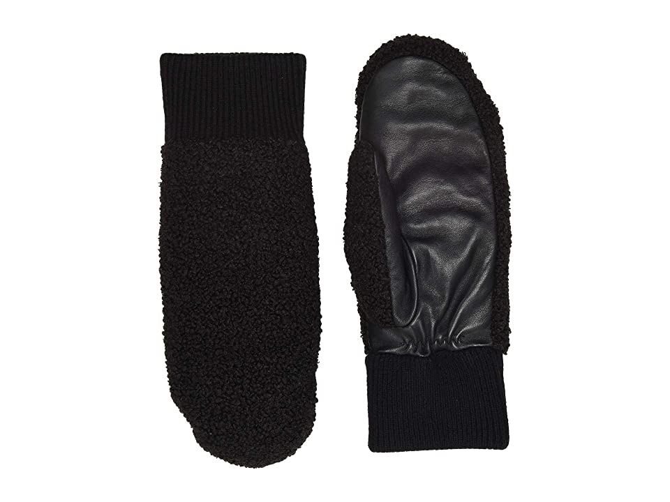 UGG Faux Sherpa Tech Mitten (Black) Extreme Cold Weather Gloves