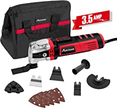 Oscillating Tool, 3.5-Amp Oscillating Multi Tool with 4.5°Oscillation Angle, Variable Speeds and 13pcs Accessories, Avid Power ADMT146