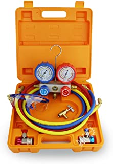 BACOENG Manifold Gauge Kit Manómetro AC Colector de Medici