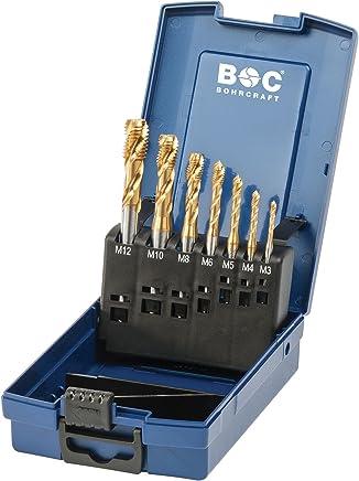 Bohrcraft 41571330007 Masch-Gewindeb. DIN 371 376 HSS-E ABS-Box 7-TLG. M 3-M 12 Form C RSP 35°   MGB7S-K TiN B075GJD9LB | Verpackungsvielfalt