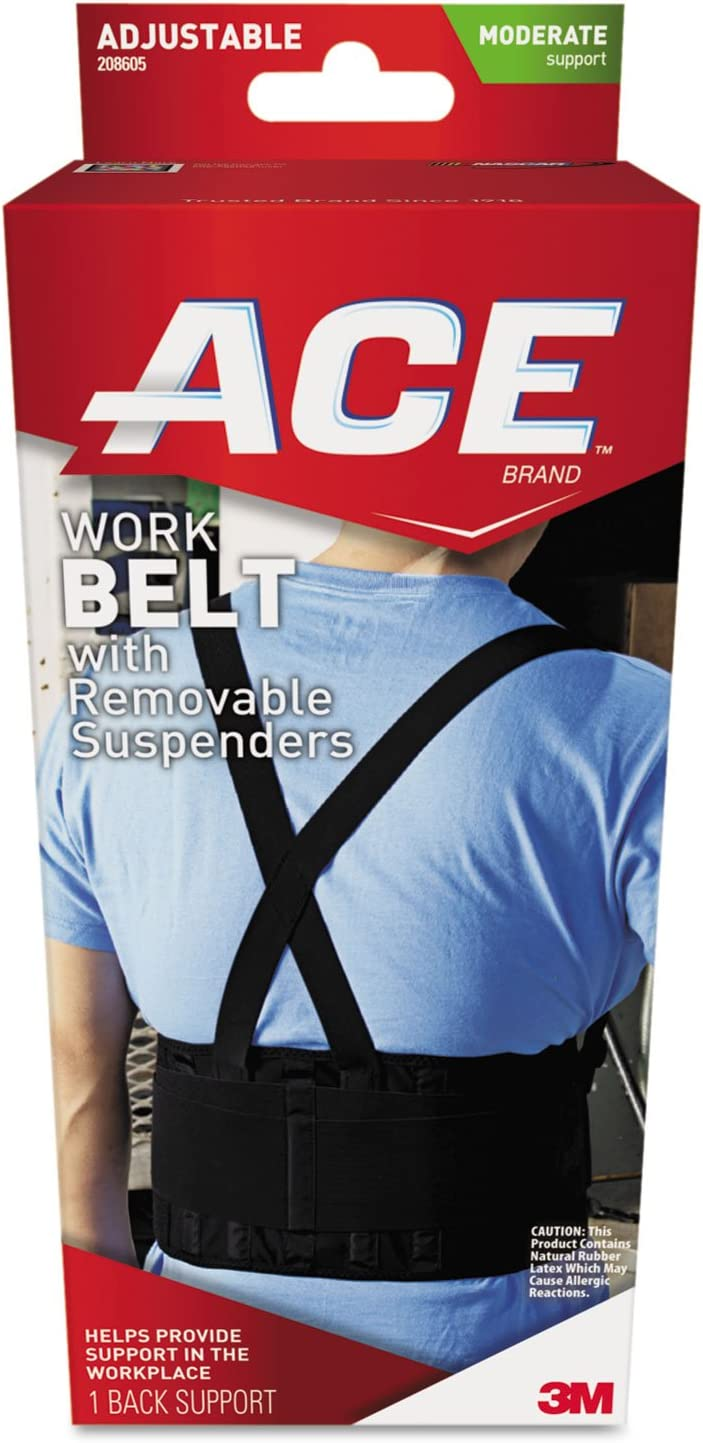 MMM208605 - Work Belt with Removable Suspenders