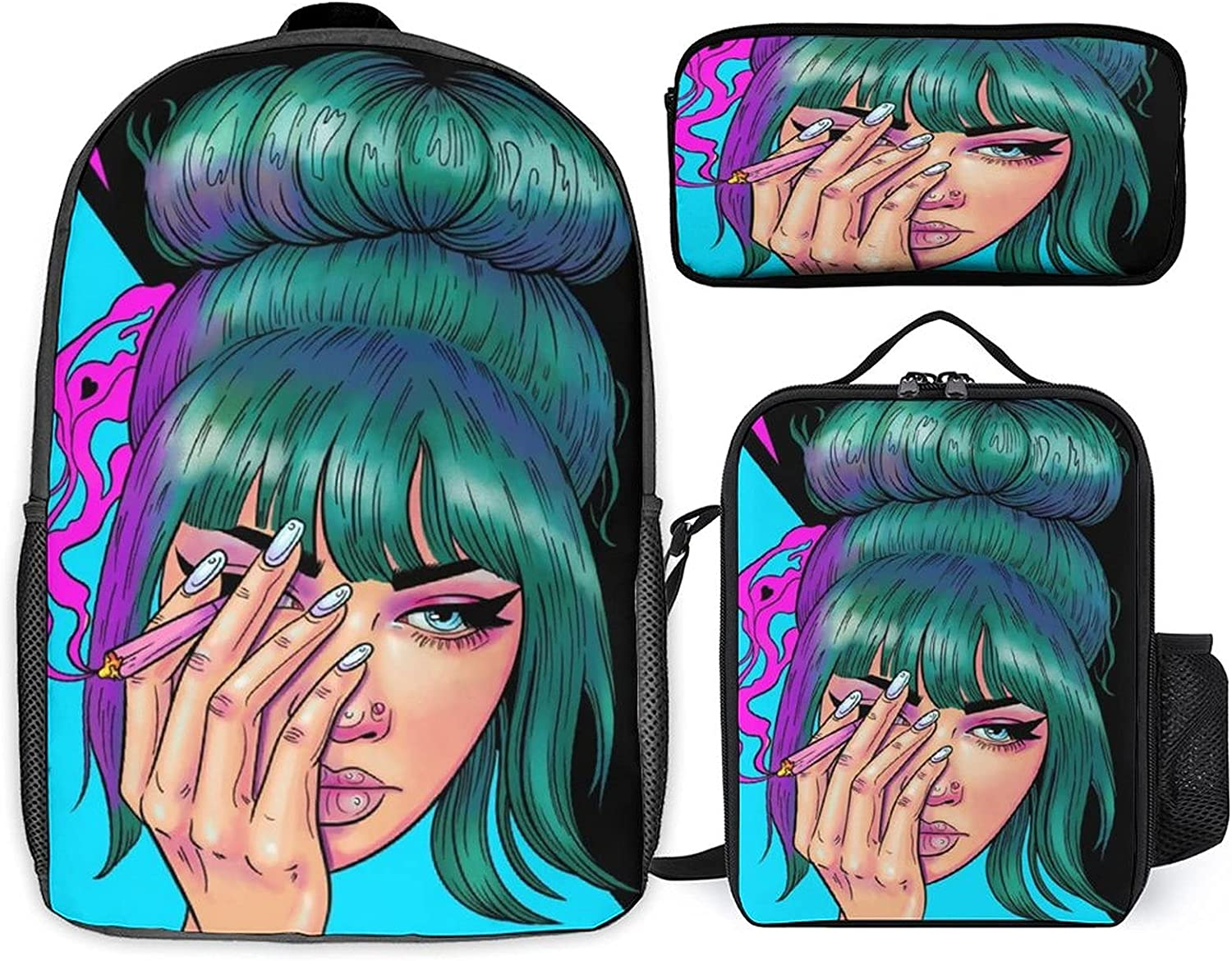 Stoner Art Three-piece set Same day shipping of schoolbag + online shopping st student