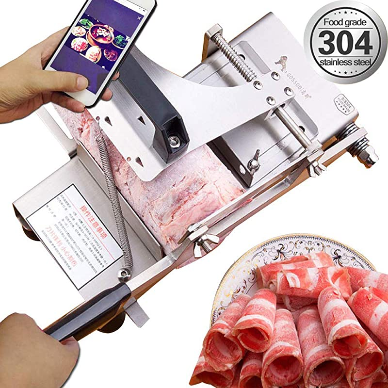 Manual Frozen Meat Ctter Slicer Machine 304 Food Stainless Steel And German Blade Cut Vegetable Kitchen Products Electric Cheese Bacon Ham