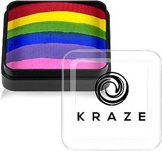 Kraze FX Dome Cake - Rainbow Roar (25 gm), Professionele gespleten cake voor gezichts- en bodypainting, hypoallergeen, vei...